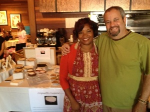 Devvon and Mitch Kohn at Bake Sale LA @ Mary and Robb's